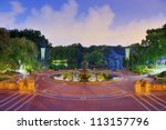 angels of the water fountain at ... | Shutterstock . vector #113157796