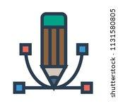bezier curve design  | Shutterstock .eps vector #1131580805