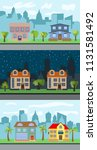 set of three vector... | Shutterstock .eps vector #1131581492