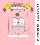 cute vector illustration of... | Shutterstock .eps vector #1131584765