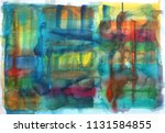 abstract watercolor paint... | Shutterstock . vector #1131584855