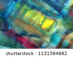abstract watercolor paint... | Shutterstock . vector #1131584882