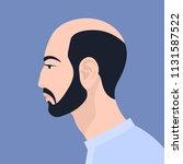 asian man with beard. the head... | Shutterstock .eps vector #1131587522