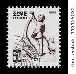 korea   circa 1995  a stamp...   Shutterstock . vector #113159032