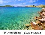 clear blue sea at kornati...   Shutterstock . vector #1131592085