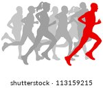 winner finish vector background ... | Shutterstock .eps vector #113159215