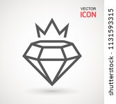 king diamond icon logo. diamond ... | Shutterstock .eps vector #1131593315