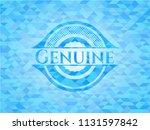 genuine light blue emblem with... | Shutterstock .eps vector #1131597842