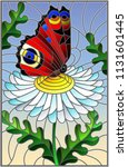 illustration in stained glass... | Shutterstock .eps vector #1131601445