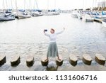 beautiful solo traveller young...   Shutterstock . vector #1131606716
