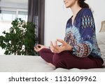 mid section of healthy female...   Shutterstock . vector #1131609962