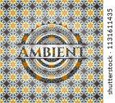 ambient arabic style emblem.... | Shutterstock .eps vector #1131611435