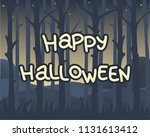 happy halloween   greeting... | Shutterstock .eps vector #1131613412