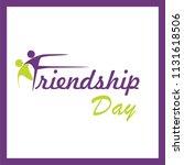 happy friendship day    Shutterstock .eps vector #1131618506