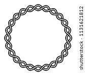 round frame braided cable  wavy ... | Shutterstock .eps vector #1131621812
