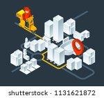 urban 3d map navigation.... | Shutterstock .eps vector #1131621872