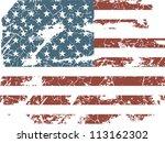 old american flag | Shutterstock .eps vector #113162302