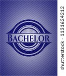 bachelor badge with jean texture | Shutterstock .eps vector #1131624212