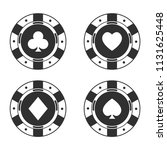 set. casino. chips and suit....   Shutterstock .eps vector #1131625448
