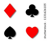 set. casino. chips and suit....   Shutterstock .eps vector #1131626105