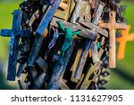 the hill of crosses | Shutterstock . vector #1131627905