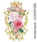 element of decor. golden shiny... | Shutterstock . vector #1131629108
