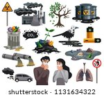 pollution ecological disaster... | Shutterstock .eps vector #1131634322