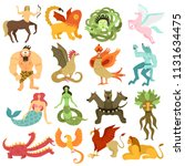 mythical creatures characters...   Shutterstock .eps vector #1131634475