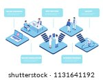 medical office concept with... | Shutterstock . vector #1131641192