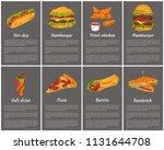 takeaway fast food posters set. ... | Shutterstock .eps vector #1131644708