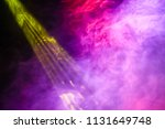 smoke from stage lights  | Shutterstock . vector #1131649748
