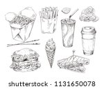 fast food snack collection... | Shutterstock .eps vector #1131650078