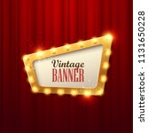 retro light sign. vintage style ... | Shutterstock .eps vector #1131650228