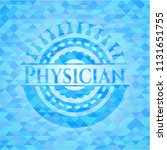 physician sky blue emblem with... | Shutterstock .eps vector #1131651755