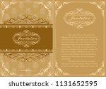 decorative frame in vintage... | Shutterstock .eps vector #1131652595