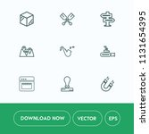 modern  simple vector icon set...   Shutterstock .eps vector #1131654395