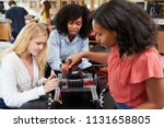 teacher with female pupils... | Shutterstock . vector #1131658805