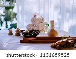 thai herbal spa elements... | Shutterstock . vector #1131659525