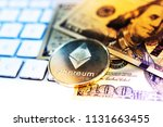 crypto currency ethereum... | Shutterstock . vector #1131663455