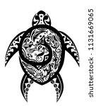 maya turtle tatoo | Shutterstock .eps vector #1131669065