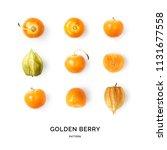 seamless pattern with golden... | Shutterstock . vector #1131677558