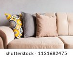 multi colored pillows on a...   Shutterstock . vector #1131682475