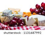 different types of cheese with... | Shutterstock . vector #1131687992