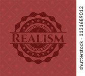 realism retro style red emblem | Shutterstock .eps vector #1131689012