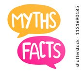 Myths Facts. Vector Lettering...