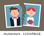 ripped photograph of married... | Shutterstock .eps vector #1131698618