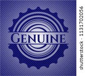 genuine emblem with jean... | Shutterstock .eps vector #1131702056