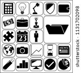 set of 22 business icons.... | Shutterstock .eps vector #1131702098