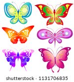 beautiful color butterflies set ... | Shutterstock . vector #1131706835