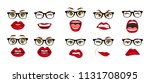 comic emotions. woman with...   Shutterstock .eps vector #1131708095